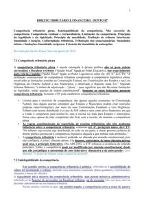 DIREITO TRIBUTÁRIO E FINANCEIRO - PONTO 07.2