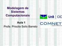 Teleinformática e Redes 1 - Modelagem de Sistemas Computacionais