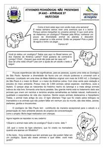 SEQUÊNCIA DIDÁTICA ANIMAIS