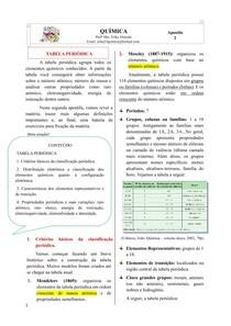 Apostila 2 - Tabela Periódica