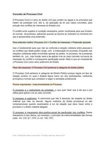 CONCEITO DE PROCESSO CIVIL