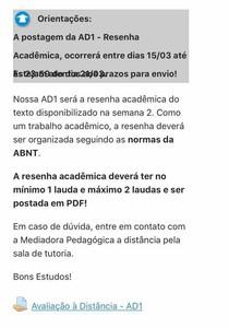 Ad1 Resenha Academica 2021.1