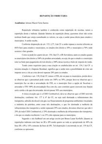 REPARTIÇÃO TRIBUTÁRIA - Juliana Maciel