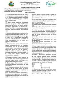 Lista de física 3ºano