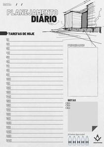 Planner diário arquitetura