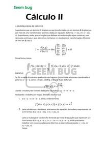 MUDANÇA GERAL DE VARIÁVEIS - cálculo III