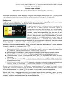MIV 27 - Fisiologia e Provas de Função Pulmonar