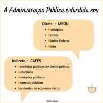 Mnemônico - Administração pública direta e indireta