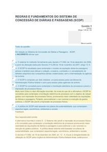 REGRAS E FUNDAMENTOS DO SISTEMA DE CONCESSÃO DE DIÁRIAS E PASSAGENS (SCDP)AV1