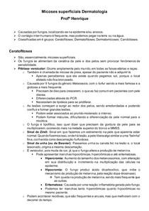 Micoses superficiais Dermatologia Profº Henrique