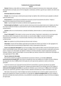 Fundamentos de sistema de informação - Resumo
