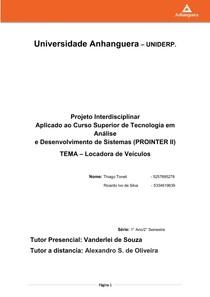 Prointer   Relatorio Final 2 Semestre   Locadora de Veiculos