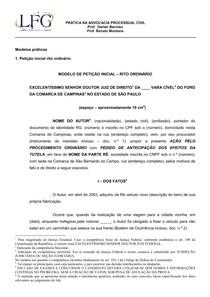 Modelo Petição Inicial Português Jurídico