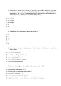 AV2 CÁLCULO   Questões resolvidas
