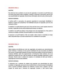 DISCURSIVAS FINAIS DE TÉCNICAS DE NEGOCIAÇÃO
