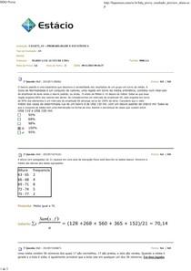 Probabilidade e Estatística  AV