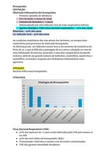 RESUMO DE BRONQUIOLITE
