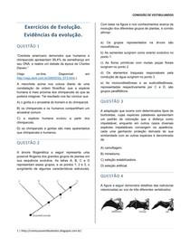Evidências Da Evolução Biologia 5