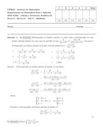 Prova 2 - Fila A - Cálculo 1 - UFRGS