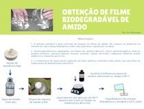 Fluxograma - Obtenção de filme biodegradável de amido