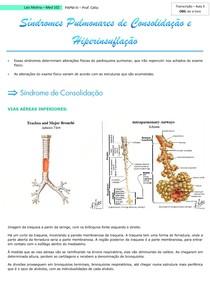 Síndromes Pulmonares de Consolidação e Hiperinsuflação