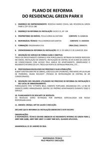 MODELO DE PLANO DE REFORMA