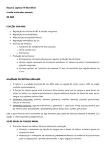 URO | NEFRO - Anatomia e Fisiologia renal