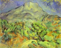 Paul Paul Cézanne - Holy  mountain Victoire with the top of the road of Tholonet