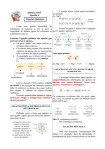 Apostila 1 - Ligação Iônica e Ligação Covalente
