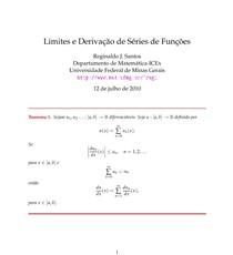 Limites e Derivação de Séries de Funções