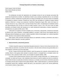 Fisiologia Respiratória em Pediatria e Neonatologia.
