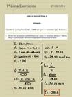 1ª Lista de Exercícios - Processos de Fabricação (1ª Prova)