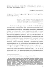 1_ A TEORIA DA CRISE E A PRODUÇÃO CAPITALISTA DO ESPAÇO EM DAVID HARVEY