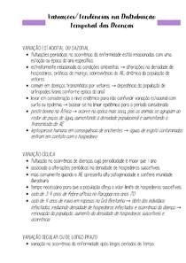 Tendências nas Distribuição Temporal das Doenças