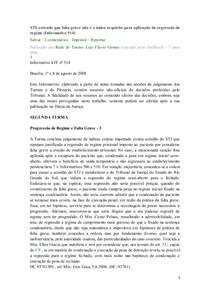 REGRESSÃO DE REGIME ENTENDIMENTO JURISPRUDENCIAL