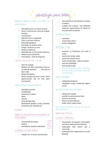 Odontologia para bebê II