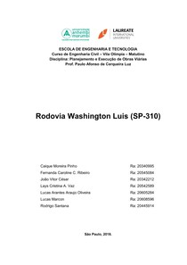Rodovia Washington Luís   SP 310