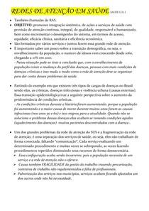 REDES DE ATENÇÃO EM SAÚDE (parte 1) -SAUDE COL l