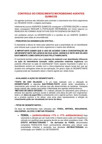 RESUMO DE BIOSSEGURANÇA PROVA 2 - unip