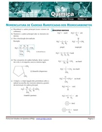 exercicios nomenclatura hidrocarbonetos