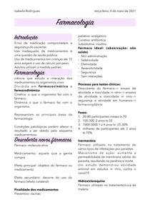 Farmacologia- Introdução