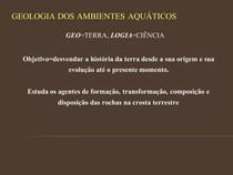 GEOLOGIA - Introdução à Geologia