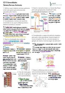 [QUESTÕES] Generalidades: Sistema Nervoso Autônomo