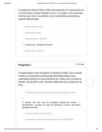 Avaliação Online 2_ G MAI ACC 6 - Análise de Crédito e Cobrança2
