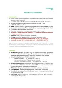 URO | NEFRO - Infecção do trato urinário