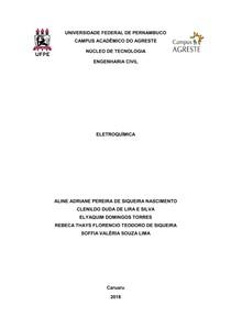 ELETROQUÍMICA E REAÇÕES DE OXIRREDUÇÃO - Relatório - Química Geral