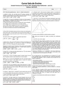 SE 2019 - Aula 25 - Análise Combinatória-II
