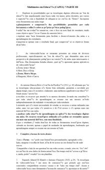 Multimeios em Educação (CAPES) PARTE III