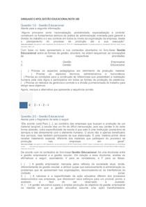 SIMULADO E APOL GESTÃO EDUCACIONAL NOTA 100