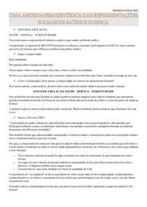 UMA ABORDAGEM HISTÓRICA DAS REPRESENTAÇÕES SOCIAIS DE SAÚDE E DOENÇA